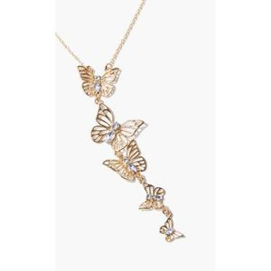 Filigree Butterfly Pendant Necklace